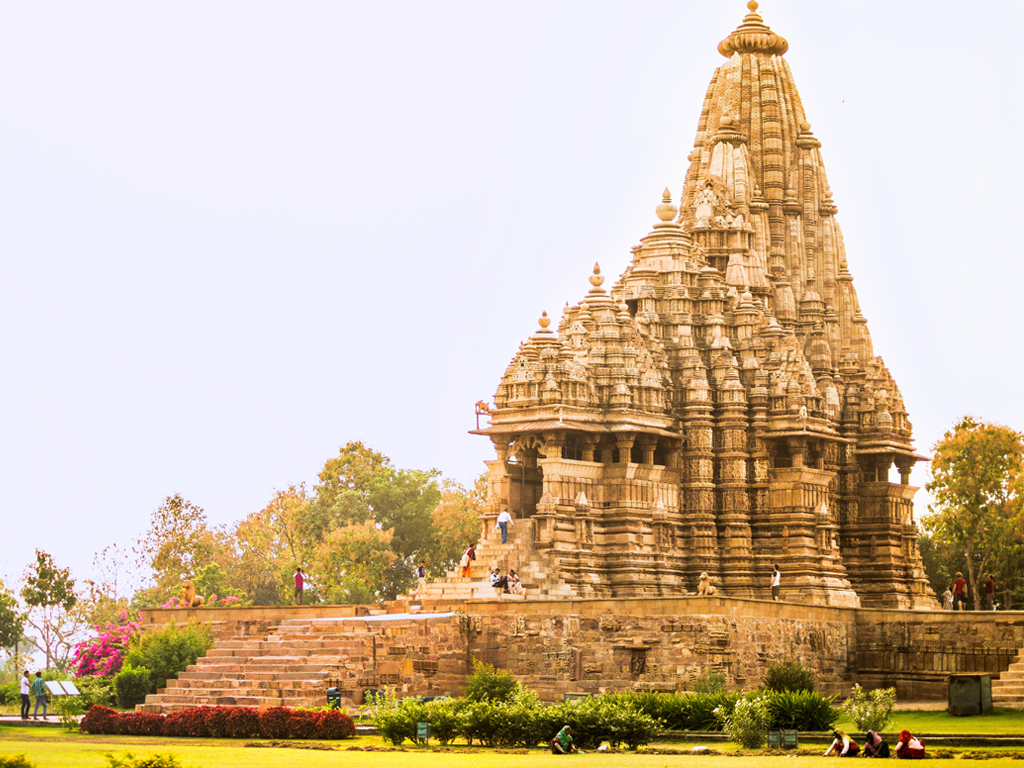 The Khajuraho Group of Monuments are more famous for the erotic carvings, but the sculptures themselves are worthy of touring with a guide.