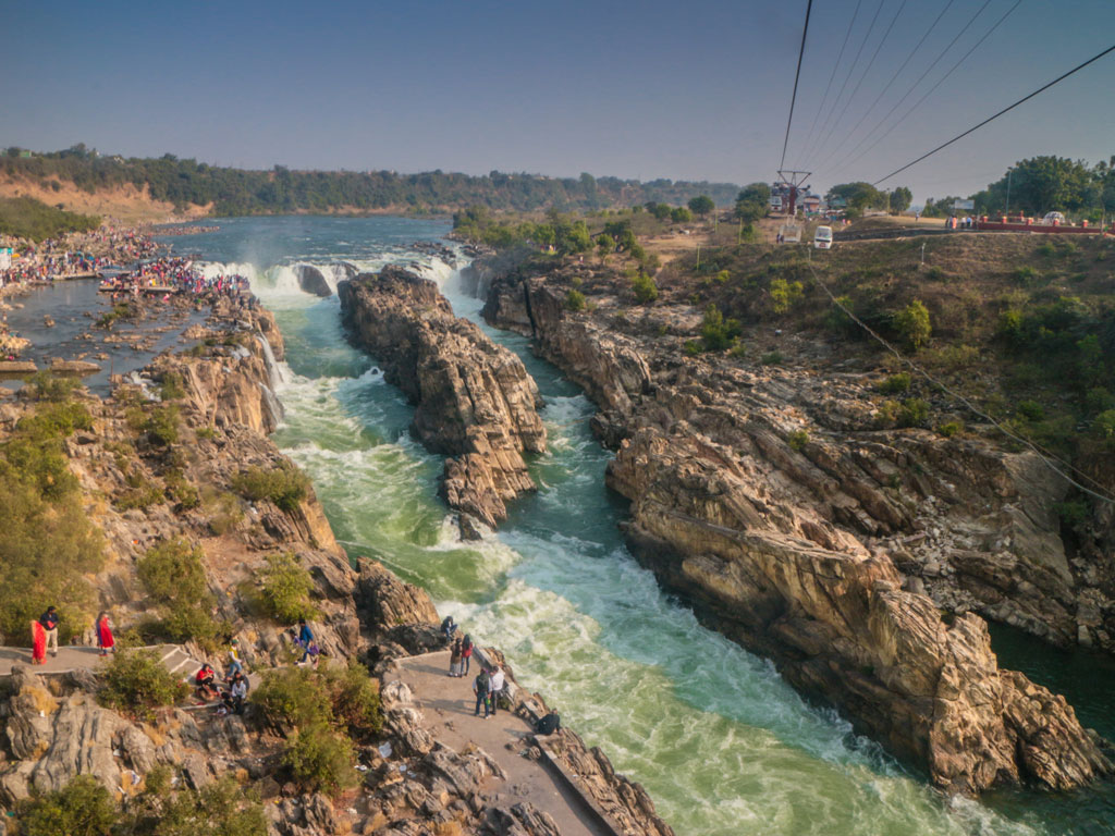 A cable car ride across the Dhuandhar Falls in Jabalpur affords a bird's-eye view to their glory.