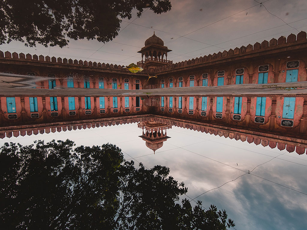 There can never be enough good pictures of the Taj-Ul-Masajid, but the reflection in this one offered an interesting perspective of the historic mosque. Photo by: Priyanshu Bhargava