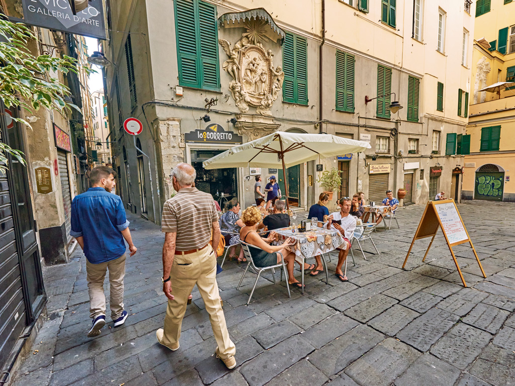 Genoa's other big draw is the food, especially trattorias dishing out pesto pasta. Photo by: Tanukiphoto/istock