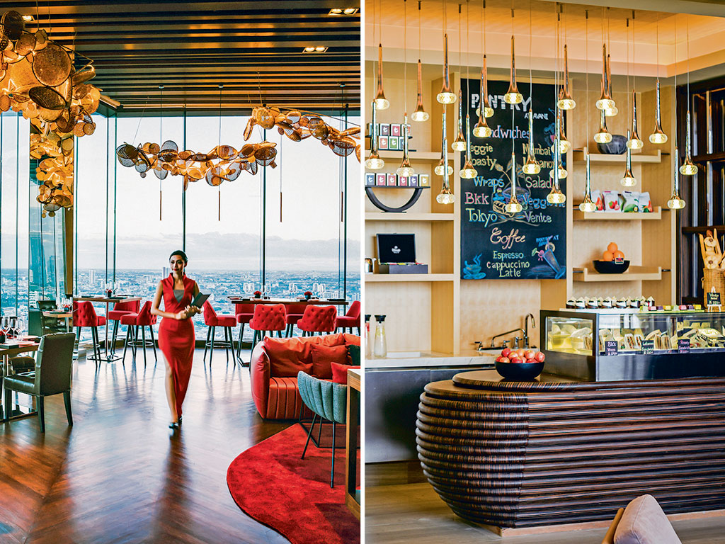 Dining options at Avani vary from quick bites at the Pantry (right) to Thai and Continental specialities at Attitude (left), which also affords views of Riverside. Photo Courtesy: Avani Riverside Hotel Bangkok