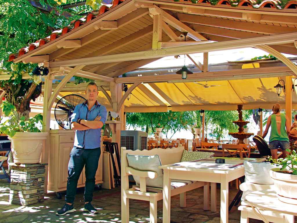 Lemoniadis, a 60-year-old restaurant managed by Ilias Lemoniadis, serves traditional dishes. Photo by: Vinita A. Shetty